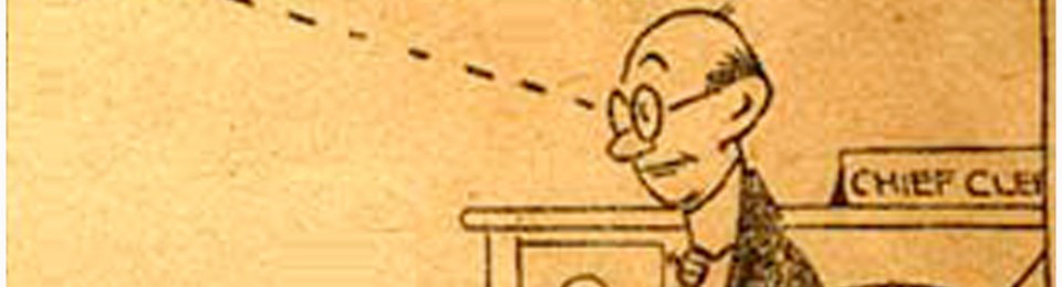 The perforated lines from an old-time cartoon.