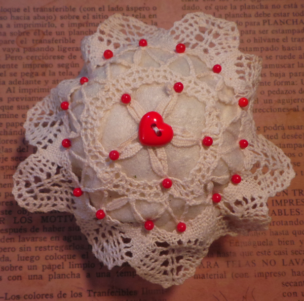 A pincushion I just made.