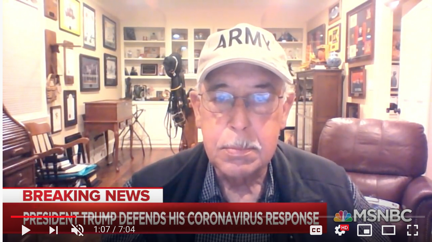 Talking heads are in isolation in their comfy home: Lt. Gen. Russel Honoré, who led military relief efforts following Hurricane Katrina in 2005, talks to MSNBC's Ali Velshi.
